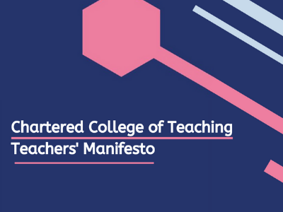 Chartered College of Teaching Manifesto News Article image