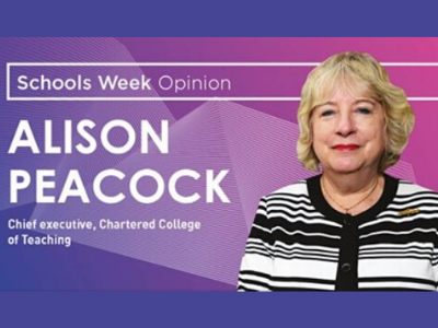 Chartered College of Teaching CEO Alison Peacock appears in Schools Week news image